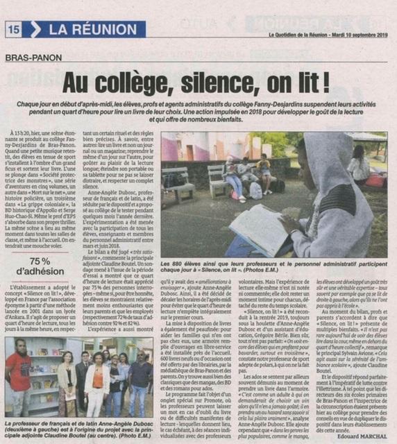 Revue De Presse Silence On Lit Lecture Quotidienne De